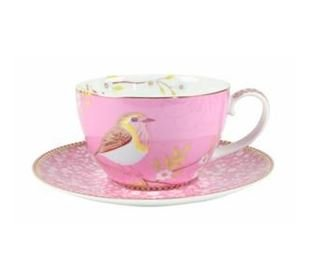 Pip Studio Cup & Saucer Early Bird Pink 280ml