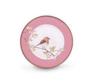 Pip Studio Plate Early Bird Pink - 21 cm
