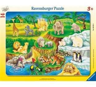 Ravensburger Pz. Zoobesuch 14T.