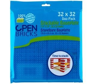Open Brick Source Basisplatte 32x32 transparent blau